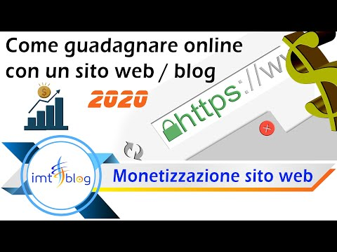 Come guadagnare online con un sito web/blog - 2020