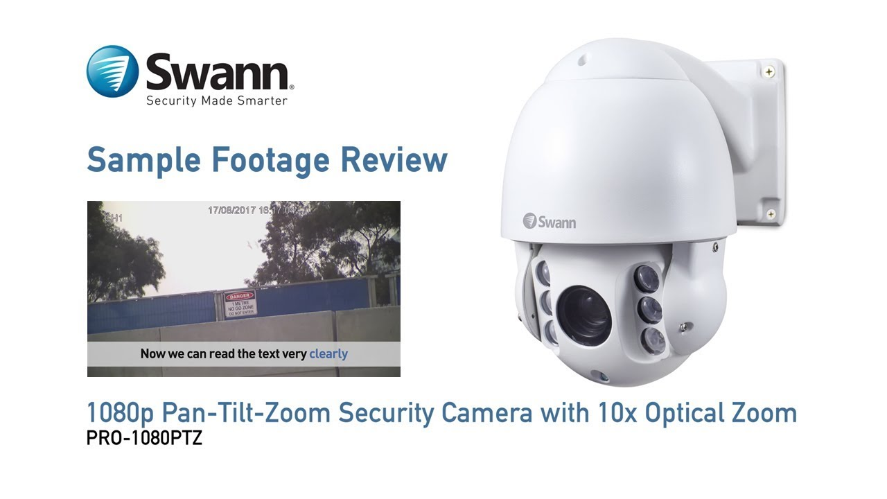 8a44e80c129 Swann PRO-1080PTZ Security Camera Sample CCTV Footage Review