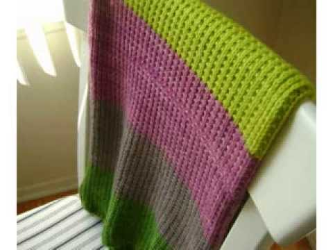 Easy Baby Knitting Blankets Youtube