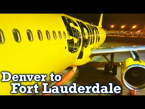 Full Flight: Spirit Airlines A321 Denver to Fort Lauderdale (DEN-FLL)