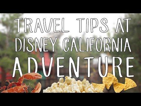 Travel Tips at Disney California Adventure