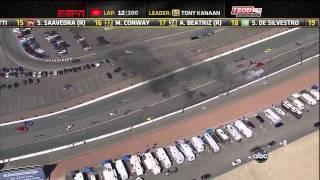 [HD] IndyCar 2011 - Las Vegas Big Crash incidente Dan Wheldon RIP