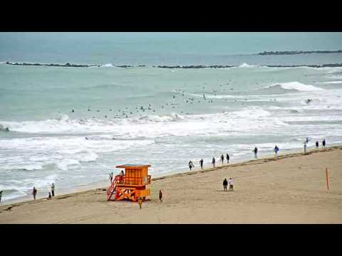 Hurricane Matthew Cam Rewind: South Beach, Miami