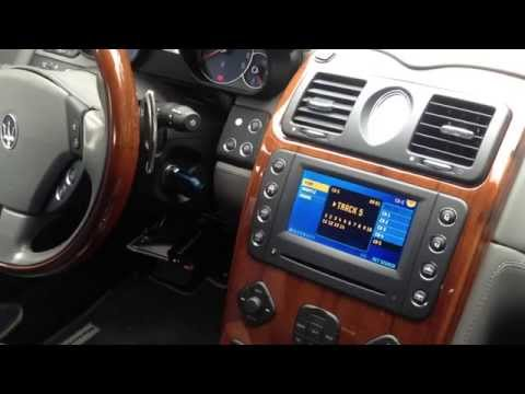 Maserati Quattroporte and Loudlink CD Changer Emulator Adapter, SSD Mp3 player with AUX-in