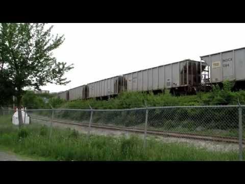 CN#511 5705 5750 push 8500 tons up grade Wrights Cove Dartmouth NS 25 June 2014