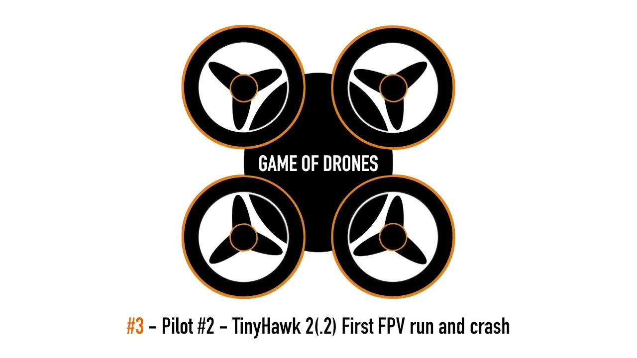 Game of Drones - Pilot #2 First FPV flight and crashes фото