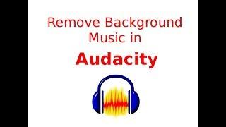 Remove Background Music using Audacity