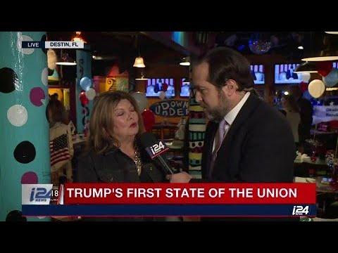 Michael Shure talks to a Trump supporter after SOTU speech