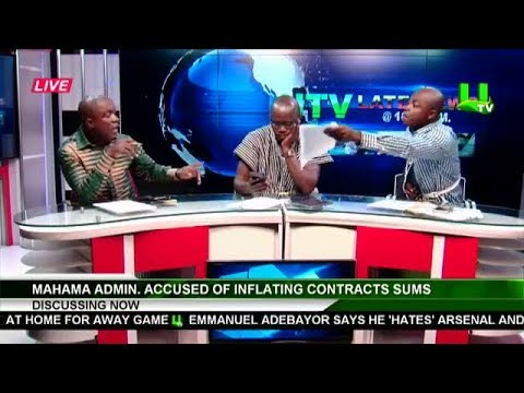 ABRONYE DC STORMS TV STATION  WITH  BROKEN HAND