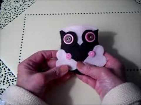 Felt Owl Pincushions or Ornaments (An Easy, Inexpensive Craft) - YouTube