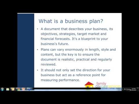 A business plan for Family Day Care services