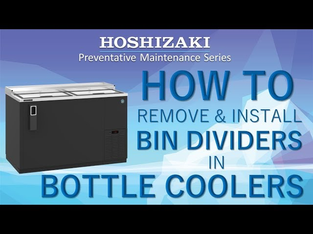 How to Install Bottle Cooler Bin Dividers | Back Bar Refrigeration