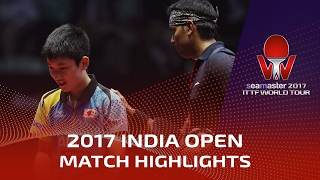 2017 India Open Highlights: Achanta Sharath Kamal vs Tomokazu Harimoto (1/2)