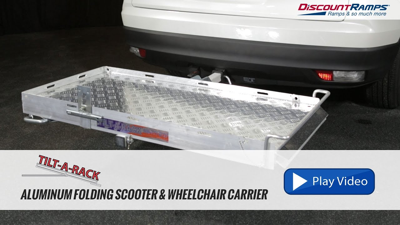 wheelchair rack for trailer hitch