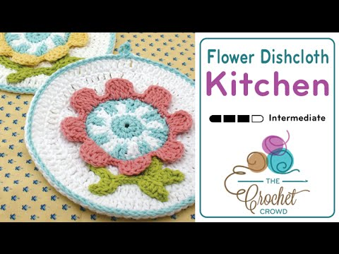 How To Crochet A Dishcloth Spring Flower Youtube