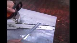 Штиль 180, заточка цепи бензопилы видео,  Stihl 180 chainsaw chain sharpening video