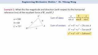 [2015] Statics 04: Vector Operation, Parallelogram Law and Triangle Rule [with closed caption]