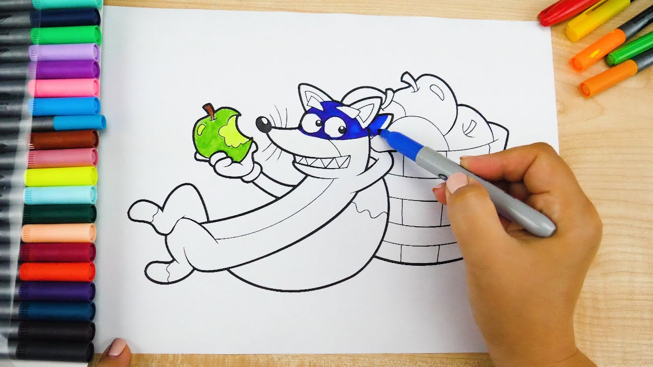 Coloring Book Pages Swiper Dora The Explorer Art Colours With Colored Markers Youtube