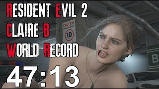 Resident Evil 2 Remake - Claire B Speedrun World Record - 47:13