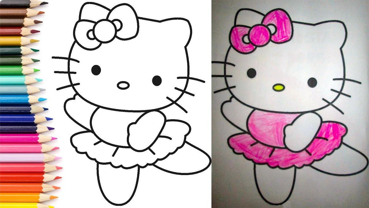 Hello Kitty Boyama Rəngləmə Youtube