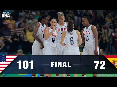 USA Women Basketball 2016 Wins Gold Medal Over Spain (Rio Olympics 2016)