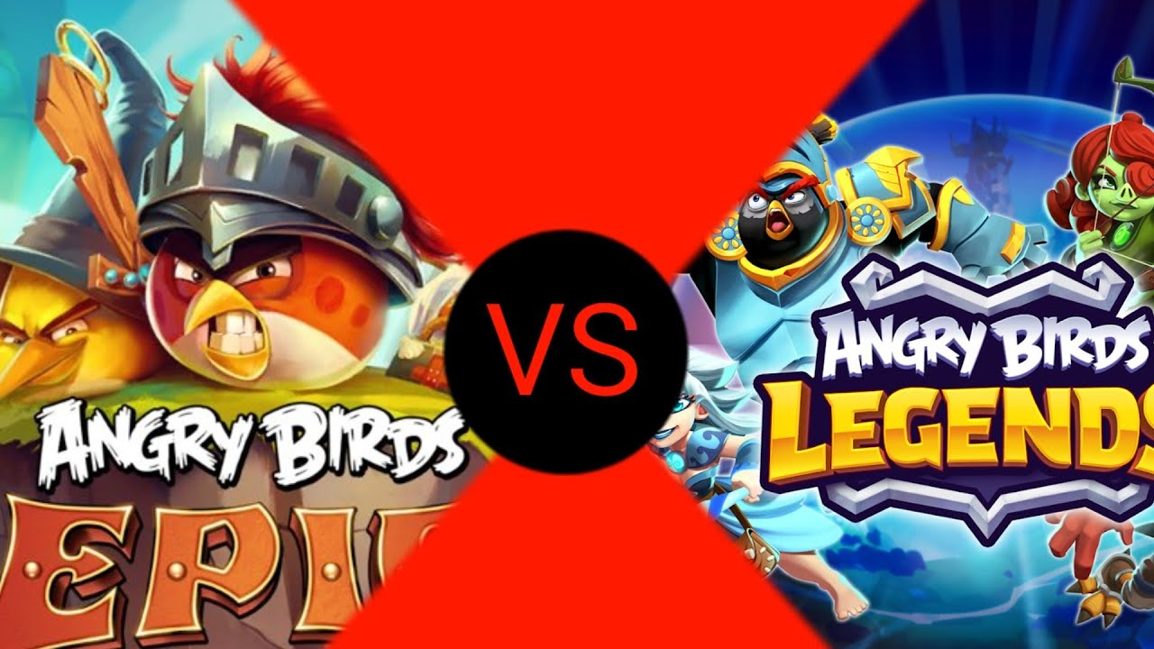 Angry Birds Epic Vs Angry Birds Legends! - YouTube