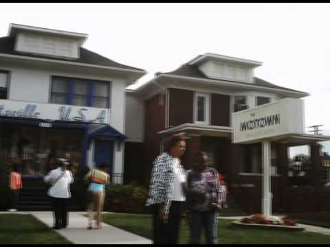 Tourists photographing the Motown Museum, Detroit, September 20, 2013
