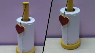 Kitchen Tissue Roll Holder | DIY | How To Make Tissue Holder At Home