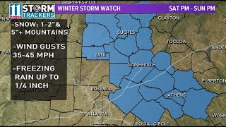 Winter weather brings cold, wet conditions to north Georgia, metro Atlanta