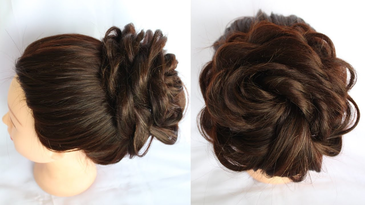 how to do a messy bun  hair bun  short hairstyles  braid hairstyles   hairstyle 12
