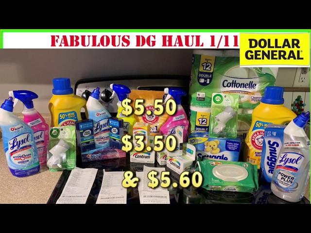 ????Dollar General Haul 1/11 + Dollar General Saturday Deals 1/11 + DG 1/11 DEALS+ALL DIGITAL COUPON