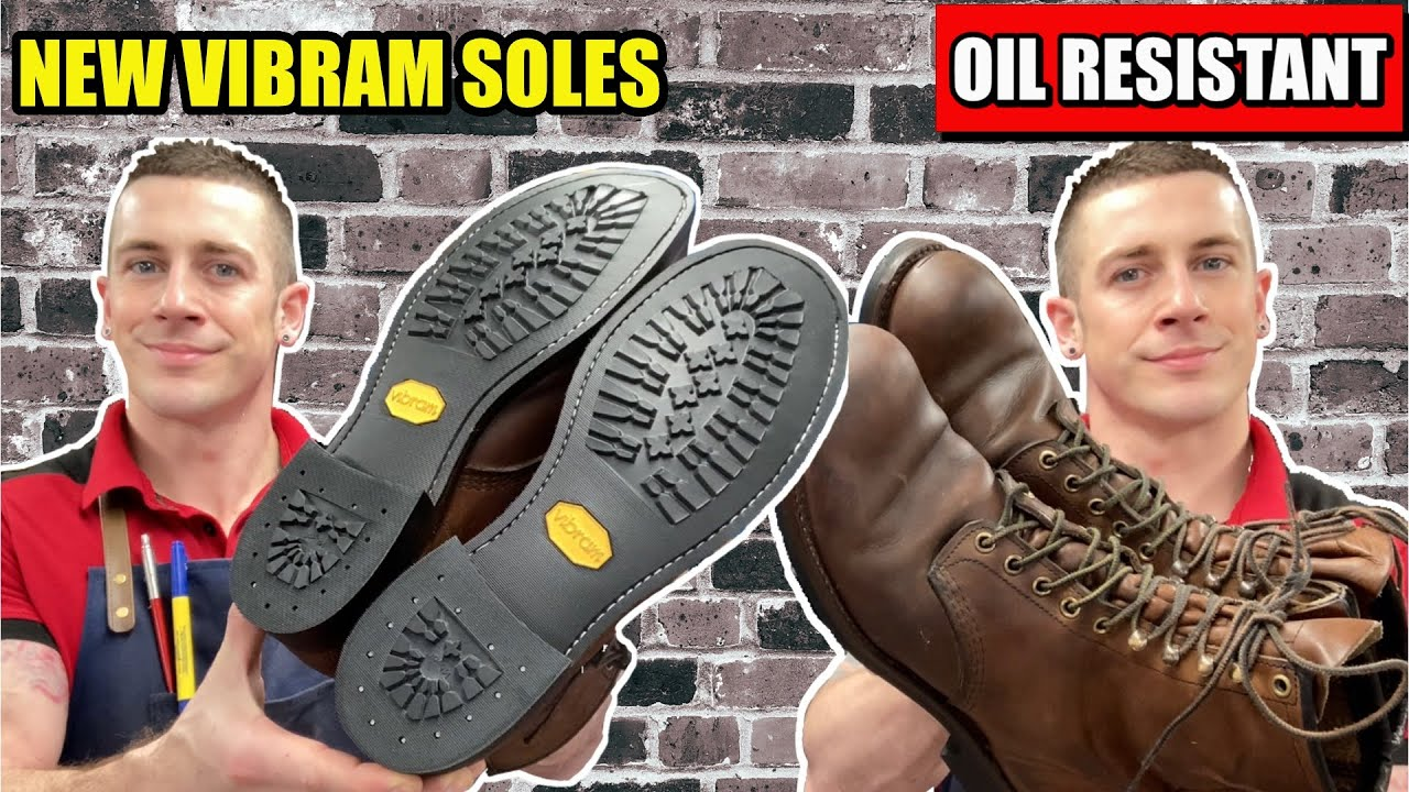 New Vibram Oil Resistant Soles!   Red Wing Shoes   Harvester Boot Repair