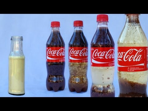 Coca Cola Milk Experiment - Cool Science Experiments with Coca Cola by Home Science
