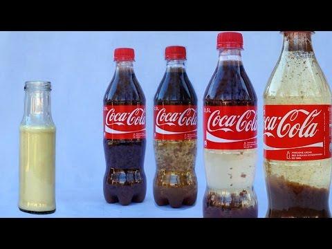 Coca Cola Milk Experiment - Cool Science...