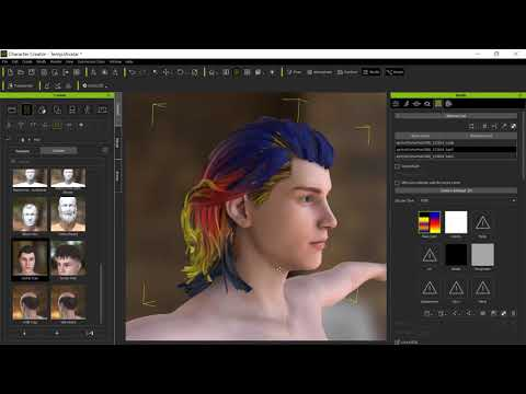 Daz Hair to CC3 - Creating physics weight maps