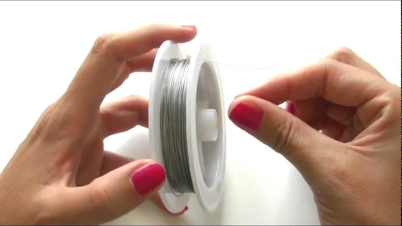 brillante 0.6MM Nylon delgada buena ensartando cuentas Cadena de artesanía metálico brillante
