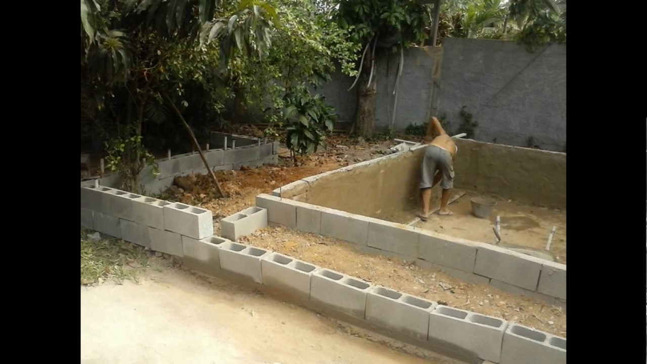 como construir uma piscina barata youtube