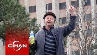 Bakan Müezzinoğlu'nun önünde kendini yakmak istedi