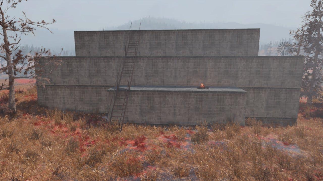 Fallout 76 - Bog Bunker Build - Part 3 - Hidden Entrance