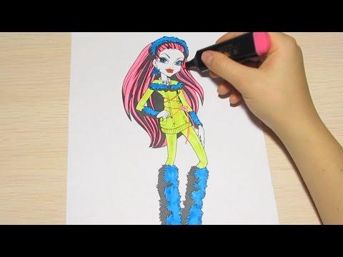 Раскраска монстр хай /monster high coloring