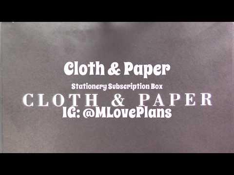 Cloth & Paper June Sub Box