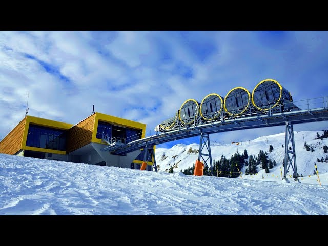 ( World Record )  Steepest funicular in Stoos Switzerland