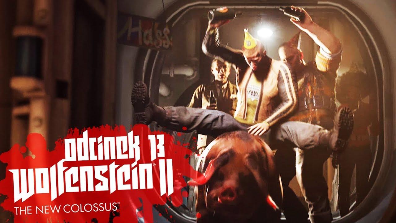Zagrajmy w Wolfenstein II The New Colossus #13 – IMPREZKA URODZINOWA! – PC