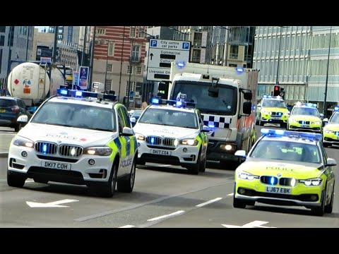 High Security Prison convoy Transporting Prisoners to HMP Strangeways