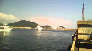 快晴のお天気のもと、鹿児島水産高校実習船「薩摩青雲丸」が14時過ぎに...