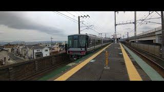 JR湖西線 比叡山坂本駅 新快速3485M列車 2