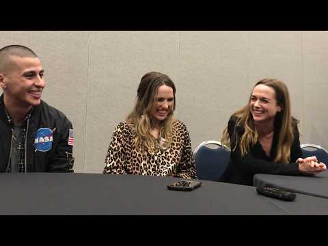 Carlito Olivero, Kerry Condon & Jacqueline Byers discuss Bad Samaritan at Wondercon '18