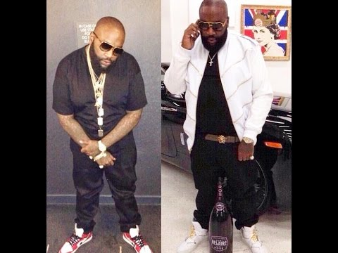 Rick Ross after  BET Awards  on Venice Beach California shooting basketball and  freestyles