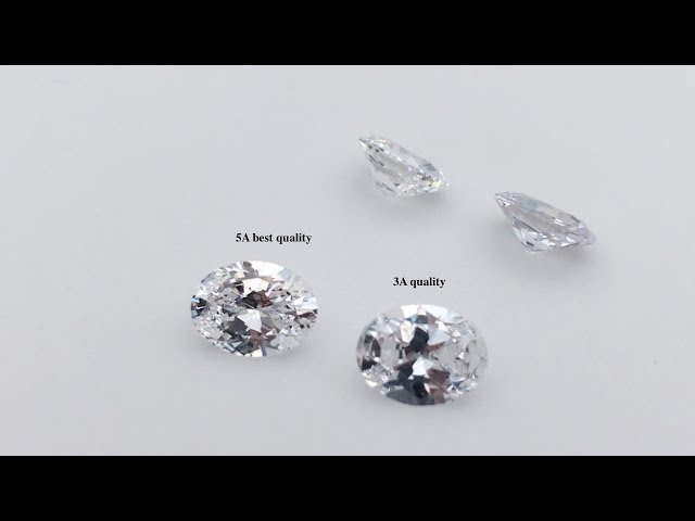 Cubic Zirconia White Color Oval Shape Gemstones 3A Quality VS 5A Best quality