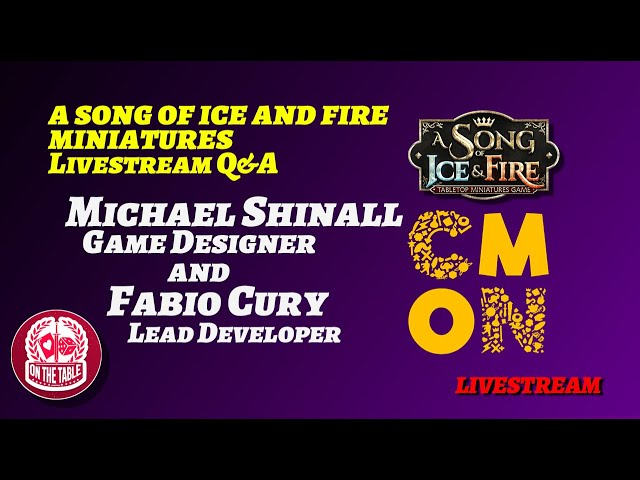 ASOIAF TMG Q&A with Michael Shinall and Fabio Cury (March 22nd, 2020)